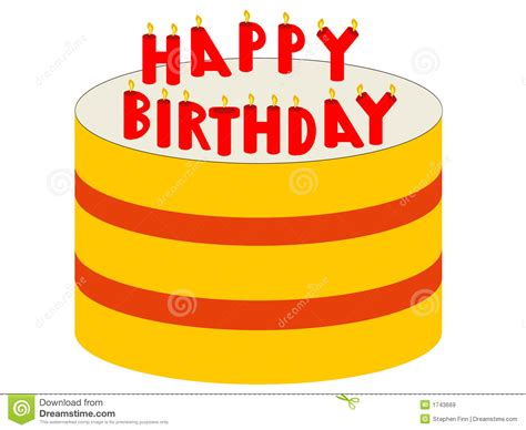 candele di compleanno torta di compleanno con le candele illustrazione