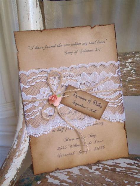 romance romance romance  rustic wedding invitation