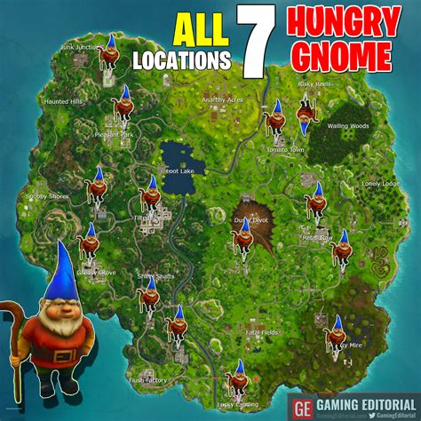 Fortnite Week 8 Challenge Search 7 Hungry Gnomes Map Of