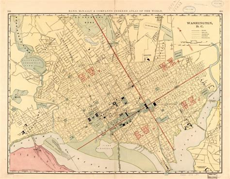 Lovely 1898 Map of Washington Ghosts of DC