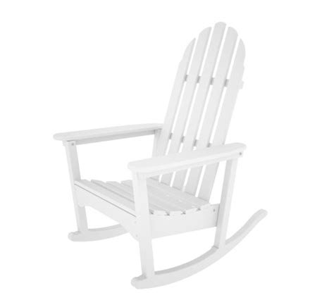Real Comfort Adirondack Chair White by Polywood Outdoor Furniture Classic Adirondack Rocker
