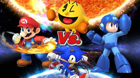 Ssbwiiu Mario Vs Pac Man Vs Sonic Vs Megaman Hd Youtube