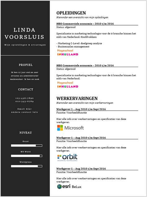 Curriculum Vitae Voorbeeld Word Kopen  Sollicitatieinfonl. Questions On Cover Letter Writing. Resume Development Definition. Resume Example Mba. Formato Curriculum Vitae 2018 Costa Rica. How To Form Letter K. Resume Cover Letter How To Address When Unknown. Sample Excuse Letter For Being Absent In School With Medical Certificate. Letter From Prime Clerk Llc