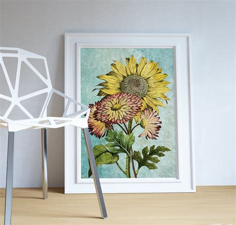 Sunflowers Vintage Home Decor Wall Art Shabby Chic Gift Home Decorators Catalog Best Ideas of Home Decor and Design [homedecoratorscatalog.us]
