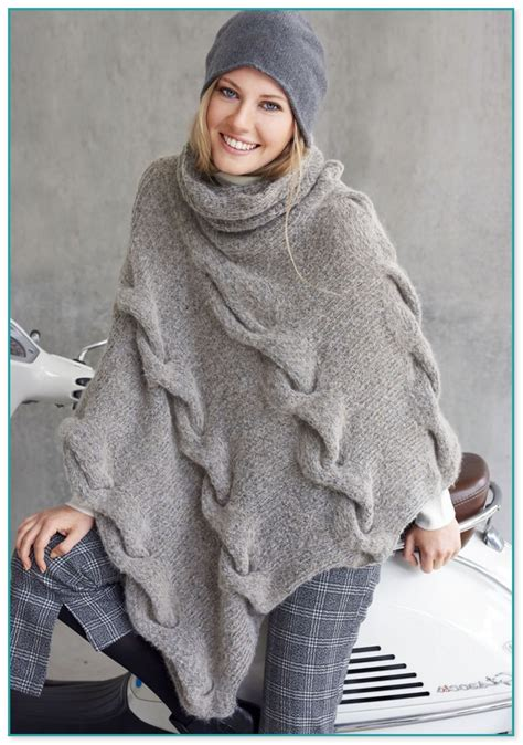 make up anfänger billig poncho stricken rundstricknadel