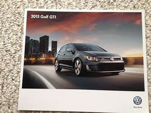 Sell 2015 Golf Gti Volkswagen Catalog  Sales Brochure Motorcycle In Milwaukee  Wisconsin  United
