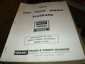 1975 Gmc Trucks Factory Complete Wiring Diagrams Manual
