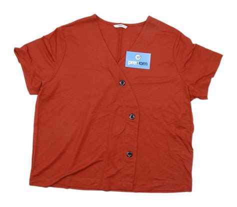 preworn george womens size  orange  shirt regular