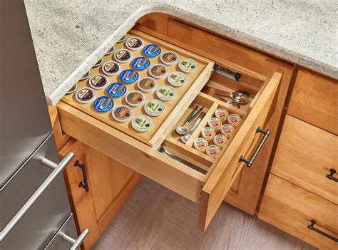 k cup drawer organizer tiered k cup drawer for 18 quot base cabinets 4wtcd 18 kcup 1