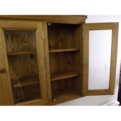 pine kitchen wall cabinets pine 3 door glazed wall cabinet w100cm 4227