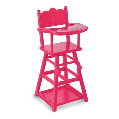 chaise haute pour poupée chaise haute poupée cerise corolle jeux jouets