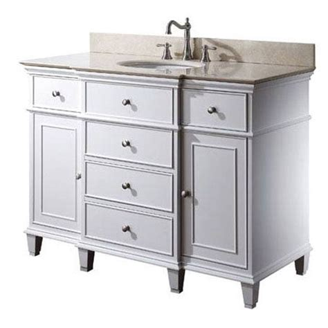 48 Inch White Bathroom Vanity Without Top by 48 Inch Vanity Only In White Finish Avanity