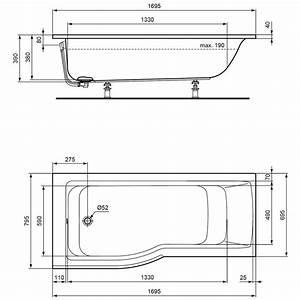 Badewanne Größe Standard : raumspar badewanne 170 uw27 hitoiro ~ Sanjose-hotels-ca.com Haus und Dekorationen