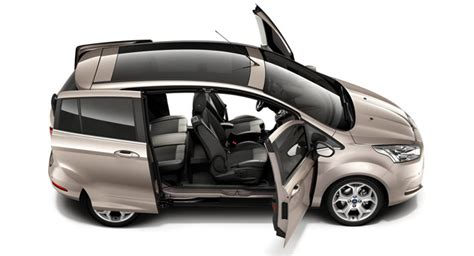 New 2012 Ford B-max Opens Up To Us, Shows Its Sliding Doors
