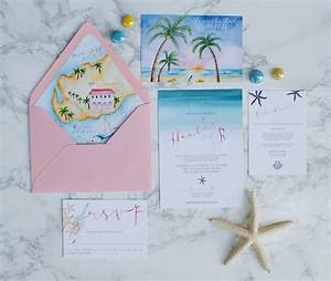 watercolor beach wedding invitations with a wedding map With minted beach wedding invitations