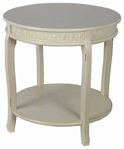 privilege international antique white wooden accent table With antique white round coffee table