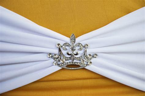 wedding chair sash buckles crown rhinestone chair sash band buckles wedding