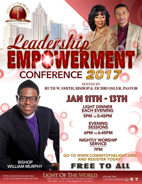 leadership empowerment conference light