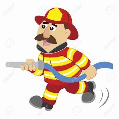 Fireman Cartoon Drawing Fire Firefighter Vector Firemen