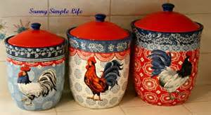 rooster kitchen canister sets simple chickens in kitchen decor