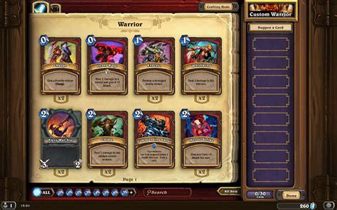Warrior Hearthstone Deck Beginner by Warrior Ready Made Decks Hearthstone Heroes Of