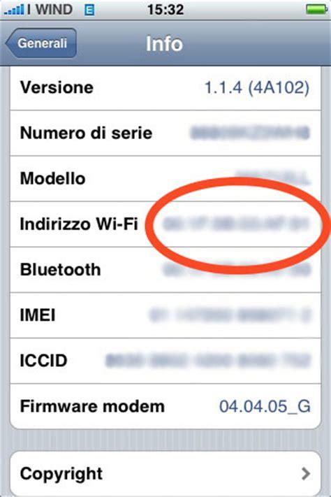 mac address iphone ziphone 3 0 e wi fi il problema mac address iphone