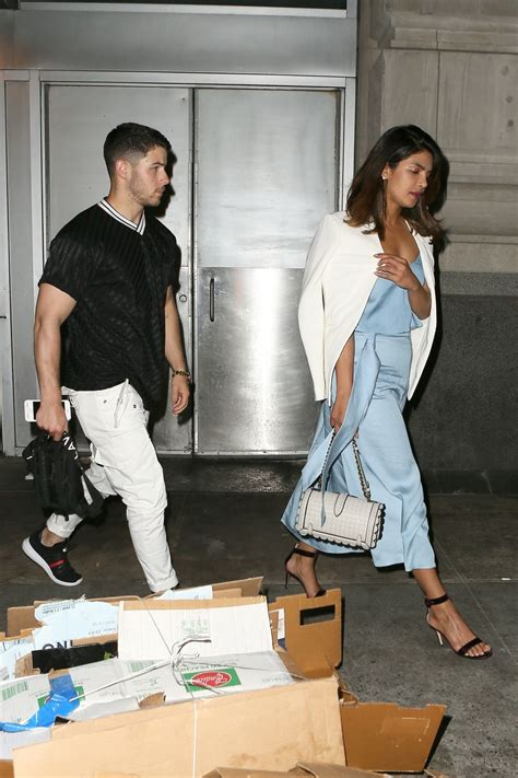 Priyanka Chopra and Nick Jonas - Leaving the Park Avenue