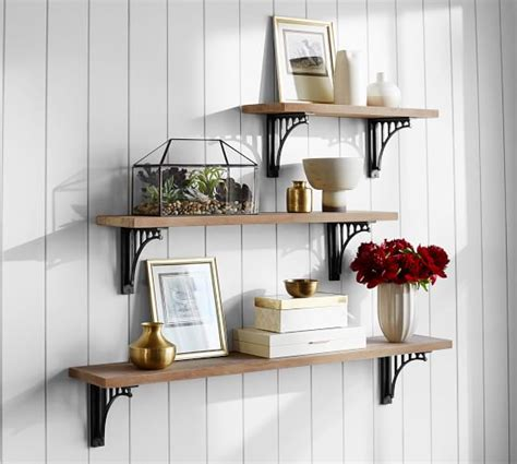 pottery barn shelf customizable brackets shelves pottery barn