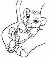 Coloring Simba Pages Printable sketch template