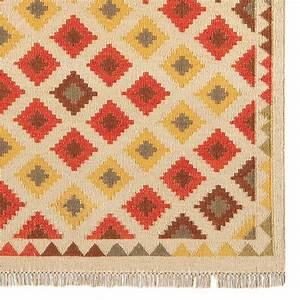 tapis kilim contemporain a motifs en laine et jute With tapis kilim avec canapé fabrication belge