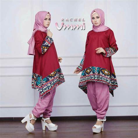 baju setelan hijab celana modis modern  murah model