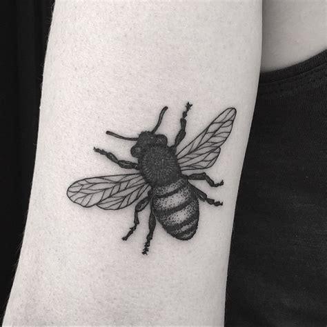 fat bee dotwork tattoo  arm  tattoo ideas gallery