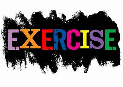 Exercise Exercising Word Importance Health Clipart Mood
