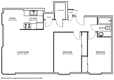 Home Design 800 Square Feet : Independent Living Spaces Floorplans Seattle Horizon House
