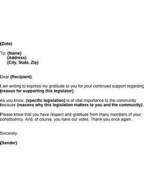 letter  legislator giving support template