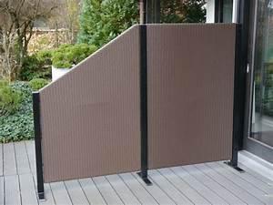Paravent Outdoor Balkon : paravent visto l112x t32x h100 160 cm aus polyrattan in mokka bei east west trading ~ Sanjose-hotels-ca.com Haus und Dekorationen