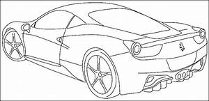 color pages cars - printable sports car coloring pages for kids teens