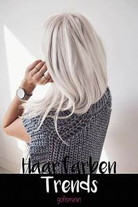 Blond Grau Haarfarbe : haarfarbe trends 2018 ~ Frokenaadalensverden.com Haus und Dekorationen