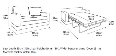 Sofa Bed Size by Be Modern Pocket Sprung Sofa Bed From Slumberslumber