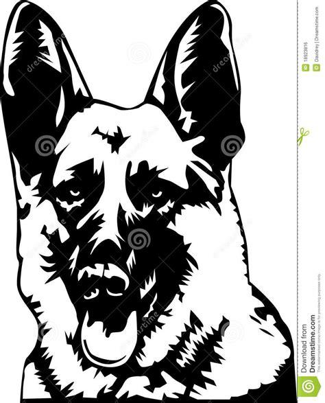 sch und schmalöer sch 228 ferhundportrait stock abbildung illustration 18923816