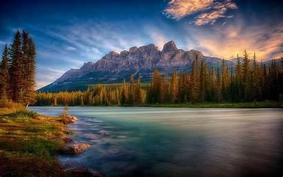 Banff Canada National Park Castle Mountain Sunrise