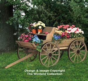 Planter Woodworking Plans - Buckboard Wagon Woodworking Plan