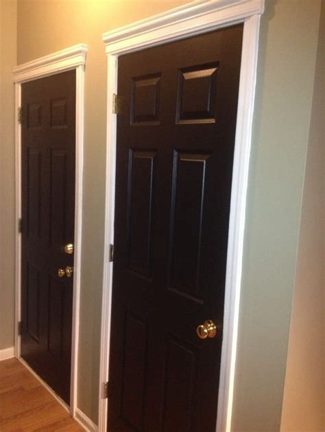 black interior door before and after