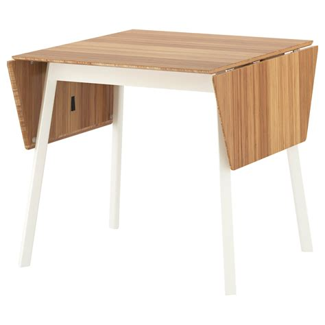 table cuisine ikea ikea ps 2012 drop leaf table bamboo white 74 106 138x80 cm