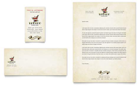 body art tattoo artist business card letterhead