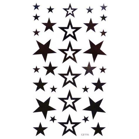 Tatouage Temporaire Etoiles 32 Stickers à Découper Achat