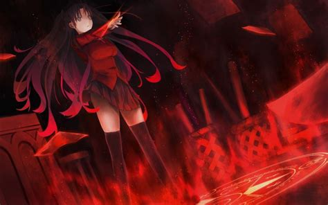fate stay night huang phoenix tohsaka rin wallpaper