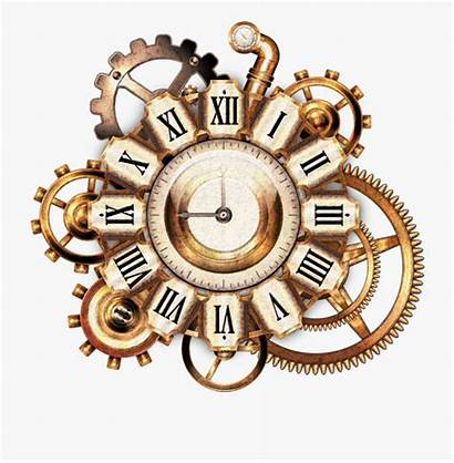 Clock Roman Numeral Golden Sticker Cartoon Netclipart