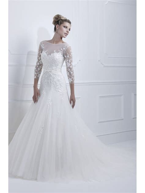 ellis bridals 11350 wedding dress with long lace sleeves