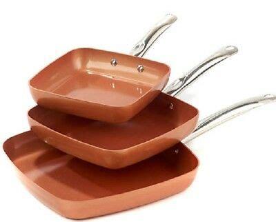 piece copper crisper oven air fryer pan set  copper chef    tv  picclick ca